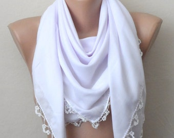 white scarf cotton scarf oya scarf yemeni scarf women scarf fashion accessories türkish gift for her