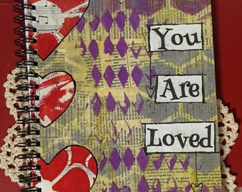 You Are Loved - spiral bound journal