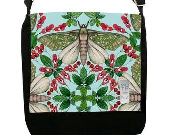 Small Messenger Bag - Puriri Moth design