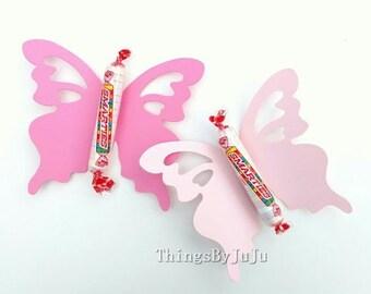 """Pink Paper Butterflies DIY Wedding Butterfly 15 X Large Butterfly Butterfly Decoration Butterfly Shower 3d Butterfly Party  (4 3/8 x 3 3/4"""")"""