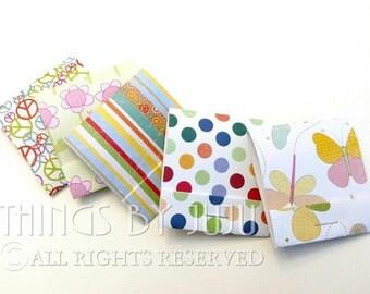 5 Mini Matchbook Notebook, Mini Matchbook, Mini Notepad, Mini Notebook, Matchbook Party Favor (2 1/2 x 2 1/4)