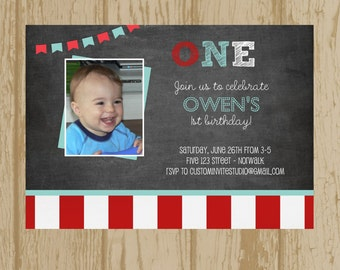 Birthday party Invitation with photo, printable birthday party invitation with photo, custom birthday party invitation with photograph