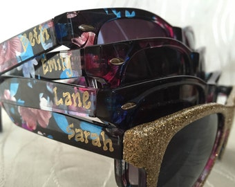 Personalized Bachelorette Floral Sunglasses for your bachelorette party/last night out/girls trip/beach trip/cruise getaway/birthday bash