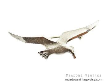 Small Silver Bird Brooch, Silver Seagull Brooch, Silver Bird Pin, Silver Seagull Pin