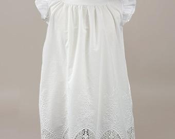 Baptism dress Communion dress Christening dress Embroidered flower girl dress Flower girl dress Baby dress Baby baptism dress Cotton dress