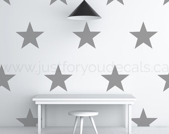 Star Wall Decal - Nursery Wall Decal - Star Patterned Wall Decal - Playroom Wall Decal - Play Room Wall Decal - 11-0003