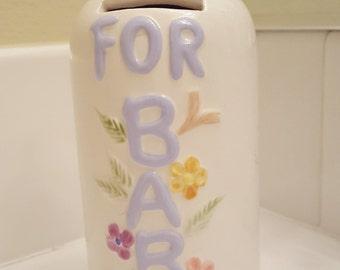 Vintage Baby Bottle Bank Shabby Chic