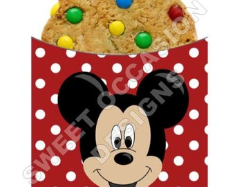 Faux Mickey Mouse Cookie Sleeve Wrappers