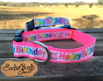 Happy Birthday dog collar