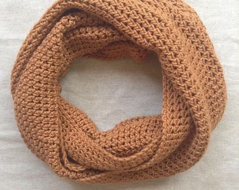 Antique Gold Cotton Infinity