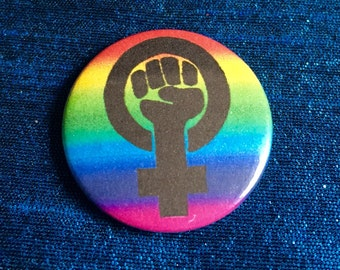 Feminist Rainbow 25mm Pinbadge