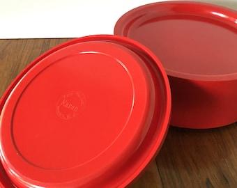 Vintage Kasen Red Dinner Plates