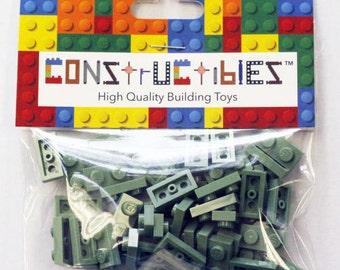 Constructibles® x50 Sand Green 1x2 Plates 3023 - LEGO® Bulk Parts