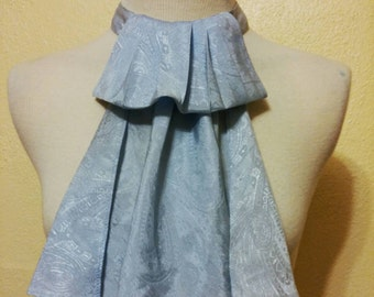 Elegant Light Blue Jabot neck ruffle for the Steampunk prince!!!