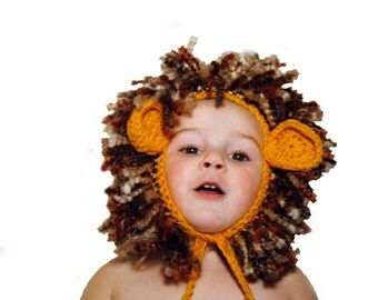 Crochet Lion Hat - Kids Lion Costume - Lion Bonnet - Wild Animal Hat - Kids Animal Hat - Lion of Judah Easter Hat - Newborn Photo Prop