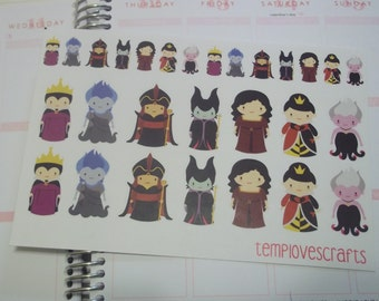 Disney Villians sticker sheet for your planner
