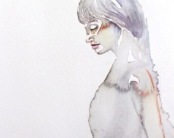 breath . original watercolor painting