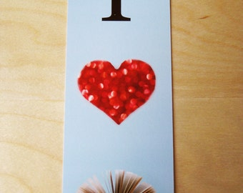 I heart books bookmark