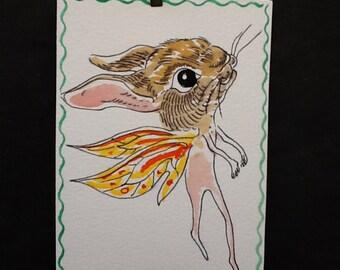 Flying Fairy Rabbit painting