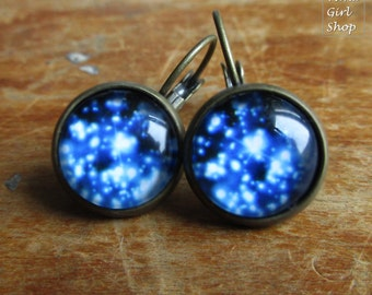 "Earrings ""stars galaxy"" bronze"