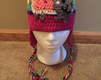 Poptart Kitty Crochet Hat