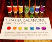 CHAKRA BALANCING essential oil & crystal blends