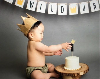 Wild one crown, max crown, Prince Charming, birthday crown, gold crown, crown, first birthday, gift