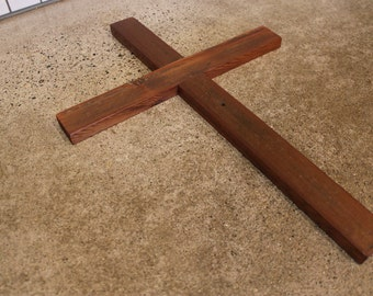 Rustic Reclaimed Wood Cross - Fence - Wooden - Distressed - Christian - Simple