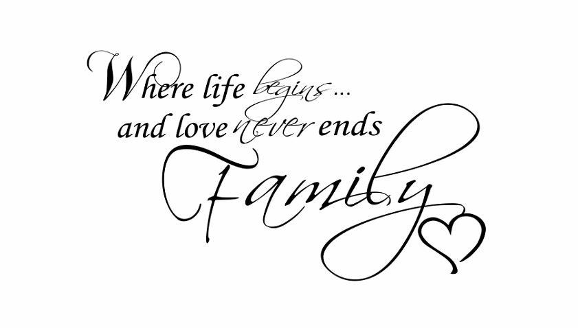 Family Quote Sign Vinyl Decal Sticker Wall Where Life
