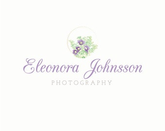 Premade Floral Logo Design for Photographers, Photography Logo, Events Logo, Fashion Logo Design, Jewelry Logo, Modern Etsy Logo, Blog Logo