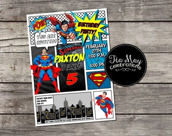 Custom Superman Invitation