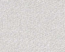 28 count white opalescent evenweave fabric made by Zweigart.  Great for adding a sparkly background to cross stitch projects.