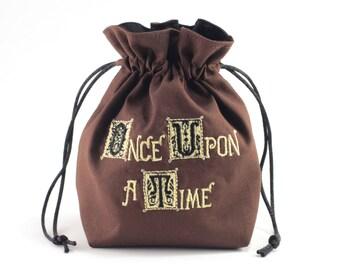 Story Book Dice Bag, Drawstring Bag