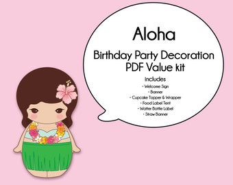Aloha Party Value Pack -Printable PDF Download