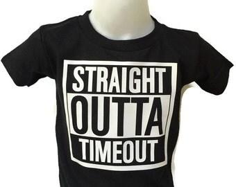 Boy toddler - Straight outta timeout - Toddler Boy Shirt - Boy birthday gift - Timeout Shirt