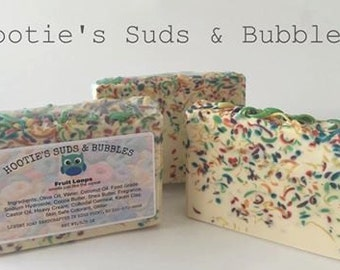 Fruit Loops Cold Process Handmade Soap