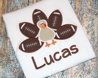 Thanksgiving Shirt - Football turkey Shirt