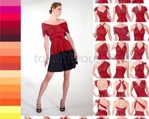 Infinity TOP / SHIRT, FULL Free-Style Dress, convertible wrap shirt, plus size top, work blouse, wrap blouse, office shirt, infinity dress