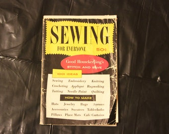 Sewing For Everyone-Vintage 1954 Stitch & Save Book-1001 Ideas-Crafts-B/W Photos