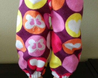 American Girl Doll pajama or lounge pants butterfly dot print flannel