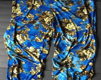 Harem pants, blue harem pants, gypsy costume, bellydance, belly dance