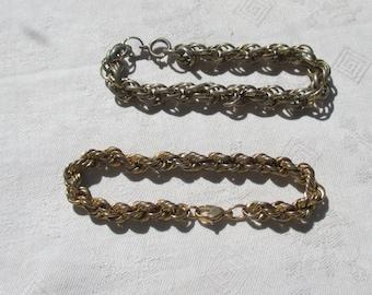 Lot Of  Vintage Twisted Metal Link Bracelets