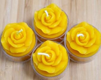 Flower Tea Light Candles (1 Dozen)