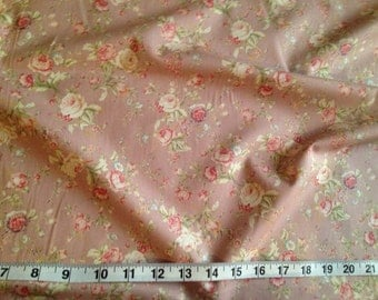 Vintage Rose - 100% Cotton 112cm Wide