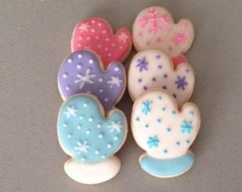 2 dozen Mini Mitten Sugar Cookies