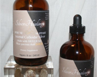 8 oz External Colloidal Silver & 8 oz Internal Colloidal Silver with dropper