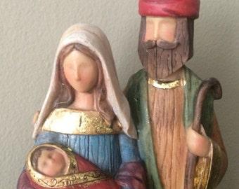 Mary, Joseph & Baby Jesus Statue