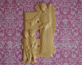 Hartland Plastic Switchplate/Light Switch Cover ~ Guardian Angel ~ Vintage