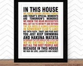 Home Decor | In this House Ohana Means Family Wall Art, Inspirational Art, Office Art, Nursery Art, Digital or Printed Art