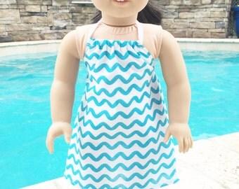 Doll Dress, 18 Inch Doll Dress, Doll Clothes, 18 Inch Doll Clothes, Doll Clothes, Halter Dress, Summer Dress